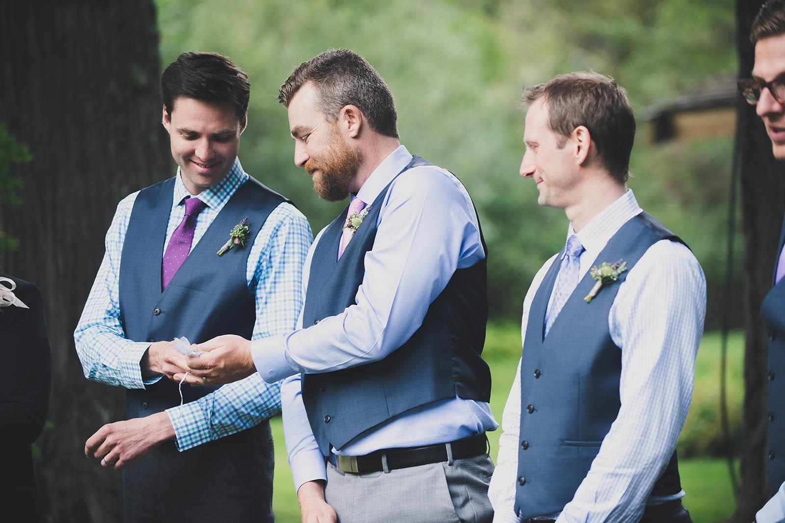 Groomsmen with Life Threads Wedding Ceremonies